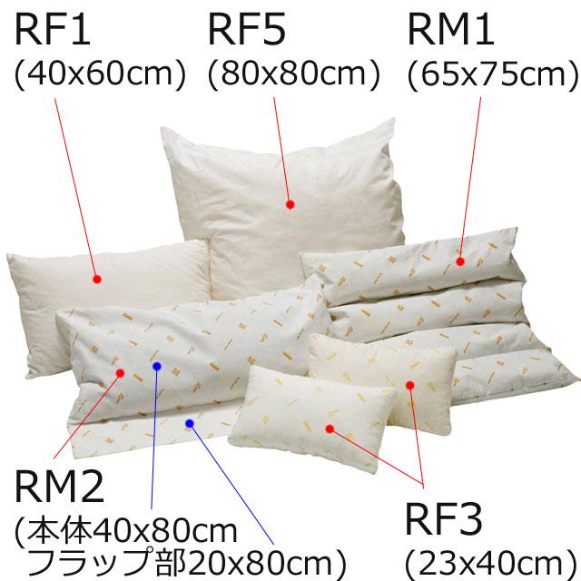【セット内容】5種類のクッション計6個のセットです。内容は、RF1×1個、RF3×2個、RF5×1個、RM1×1個、RM2×1個。
