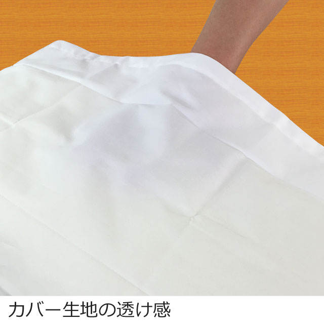 生地の透け感と質感はワイシャツやベッドシーツに近い感じです。