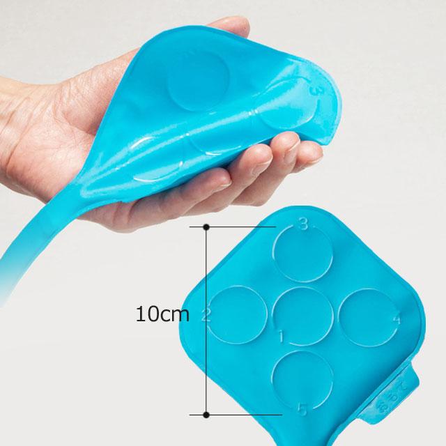 【センサーパッド】やわらかな素材を使用。一つのポイントを中心として円周上に等角度で4つの測定ポイントを配置。骨突出部位周囲の接触圧力が測定できます。
