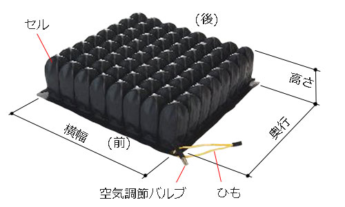 ハイタイプの高さ(厚み)は、10cm。横幅×奥行のバリエーションは5つ。38x38cm/38x43cm/33x33cm/33x38cm/43x43cm。