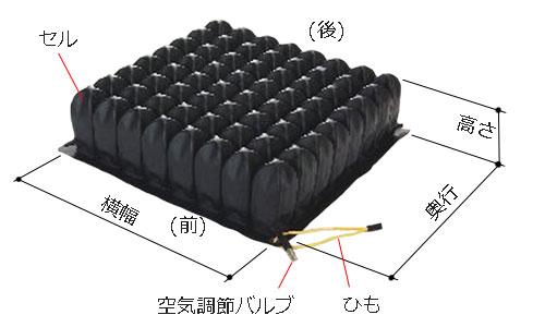 ハイタイプの高さ(厚み)は、10.5cm。横幅×奥行のバリエーションは5つ。38x38cm/38x43cm/33x33cm/33x38cm/43x43cm。