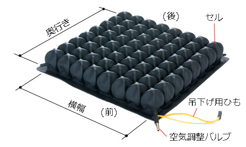 高さ(厚み)は5cm。横幅×奥行のサイズバリエーションは6つ。38x38cm/38x43cm/29x33cm/33x33cm/33x38cm/43x43cm
