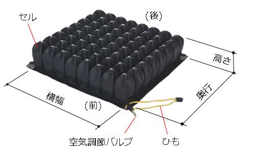 ミドルサイズの高さ(厚み)は8.3cm。横幅×奥行のサイズバリエーションは5つ。38x38cm/38x43cm/33x33cm/33x38cm/43x43cm。