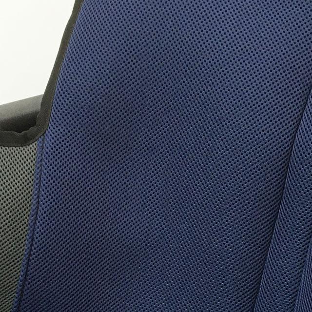 背もたれシートカバー生地。メッシュ素材を使用しクッション入り。